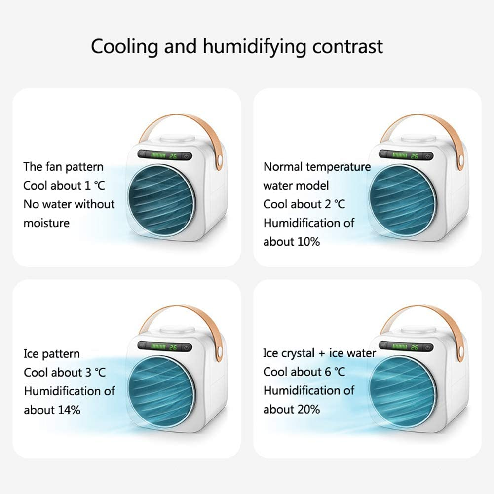 LYTLD USB Desk Fan,Small Personal USB Fan,3 Speeds Desk Desktop Table Cooling Fan with USB Rechargeable,Strong Wind,Quiet Operation,for Home Office Car Outdoor Travel