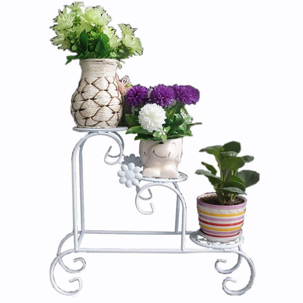 JiuErDP Fioriera in Ferro   pentola a più Strati   Stand per Piante Decorative Europee Supporto Fiore Multistrato (colore   Bianca)