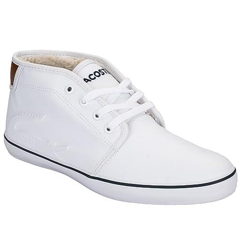 Lacoste - Zapatillas de Tela para niño Blanco blanco: Lacoste: Amazon.es: Zapatos y complementos