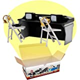 Black & Gray Commentator Table Playset for Wrestling Action Figures