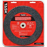 Task Tools T35845 8-Inch by 1-Inch Aluminum Oxide Bench Grinding Wheel, 80 Grit, 1-Inch Arbor
