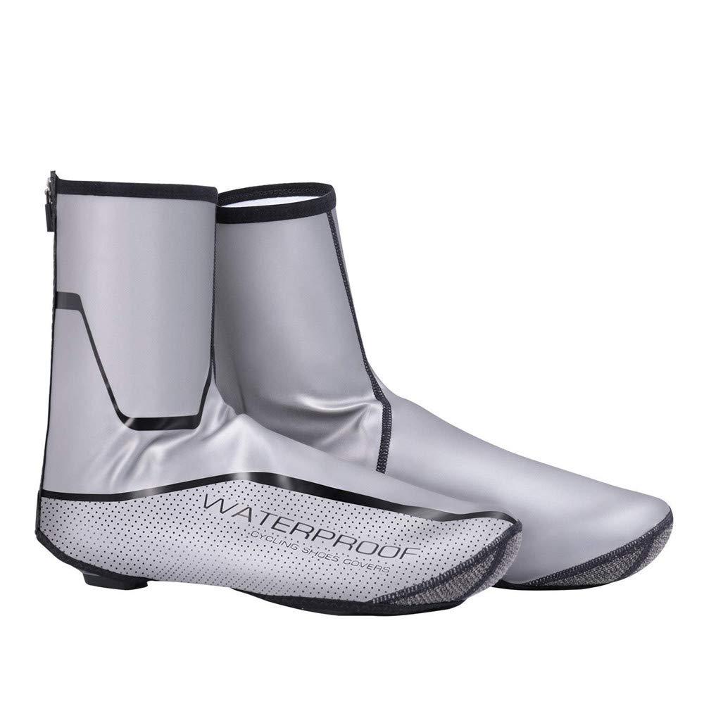 Atmungsaktive Schuhe Cover Bike Schuhes Cover, Wasserdicht Reflektierende Radfahren Überschuhe, Winddicht Fahrradschloss Überschuhe Regen Schnee Stiefel Protector Feet Gaiters Haltbar und praktisch