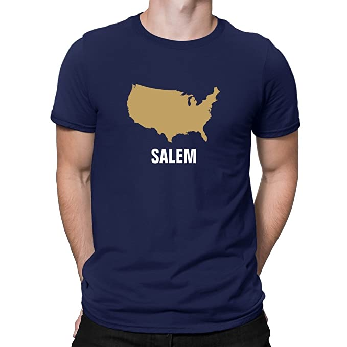 Teeburon Salem USA Map Camiseta