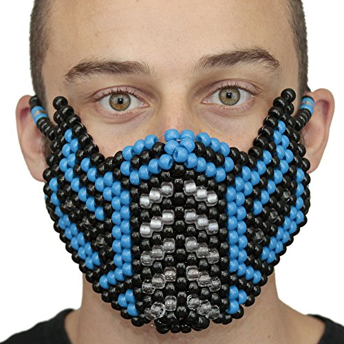 Original Mask From Kandi Gear- Mortal Kombat Sub Zero 2nd Edition Full Kandi Halloween (Women Of Mortal Kombat)