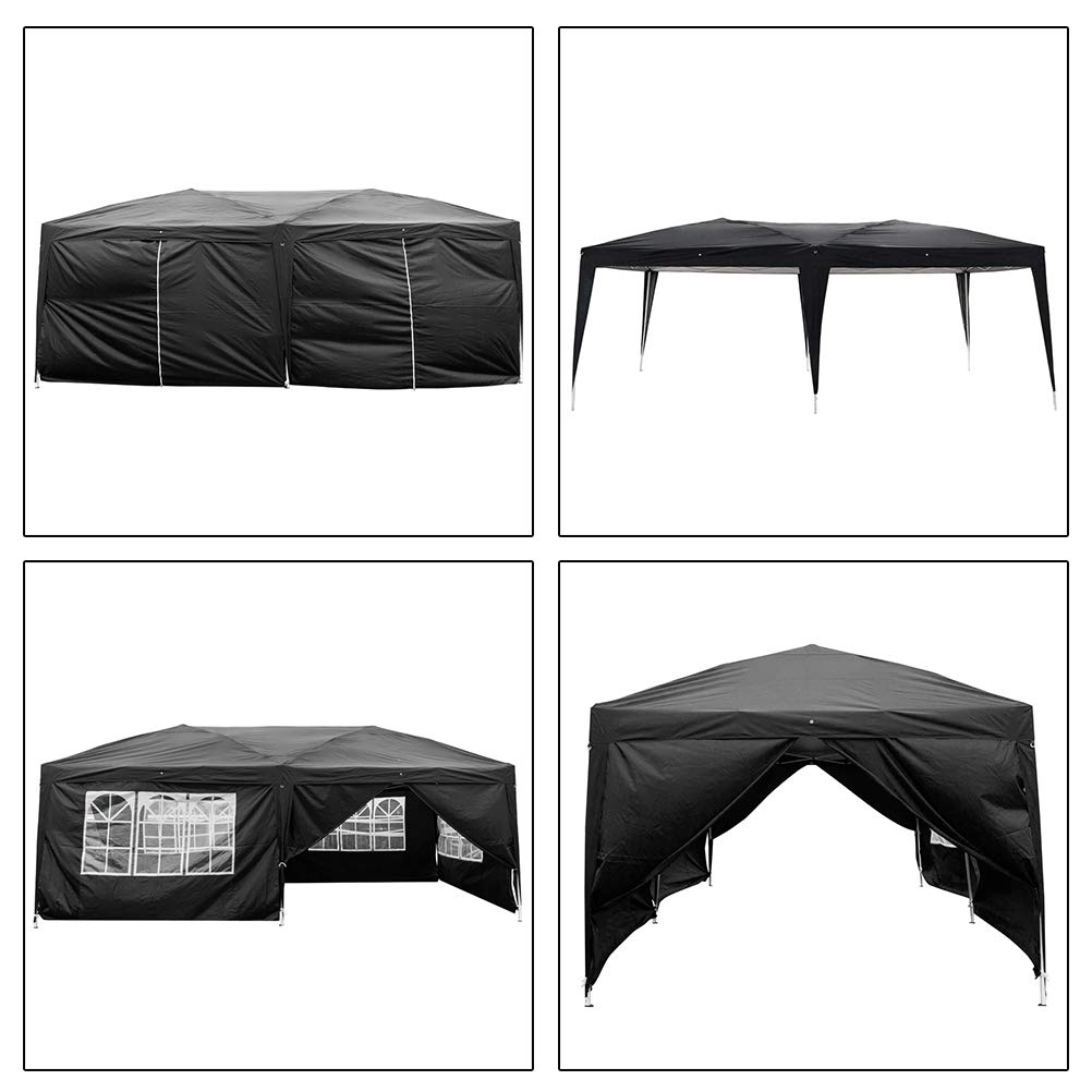 Blacgic Folding Tent Protable Instant Wedding Party Gazebo Pavilion with 6 Removable Sidewalls by Blacgic (Image #3)