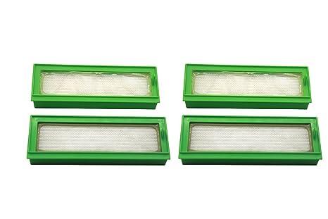 Green Label Empaque de 4 Filtros HEPA para Aspirador Robot Vorwerk Kobold VR200