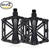 Vizbrite Bike Pedal, 9/16 Inch Bicycle Pedal for Mountain Cycling Road Bicycles Pure Metal Texture