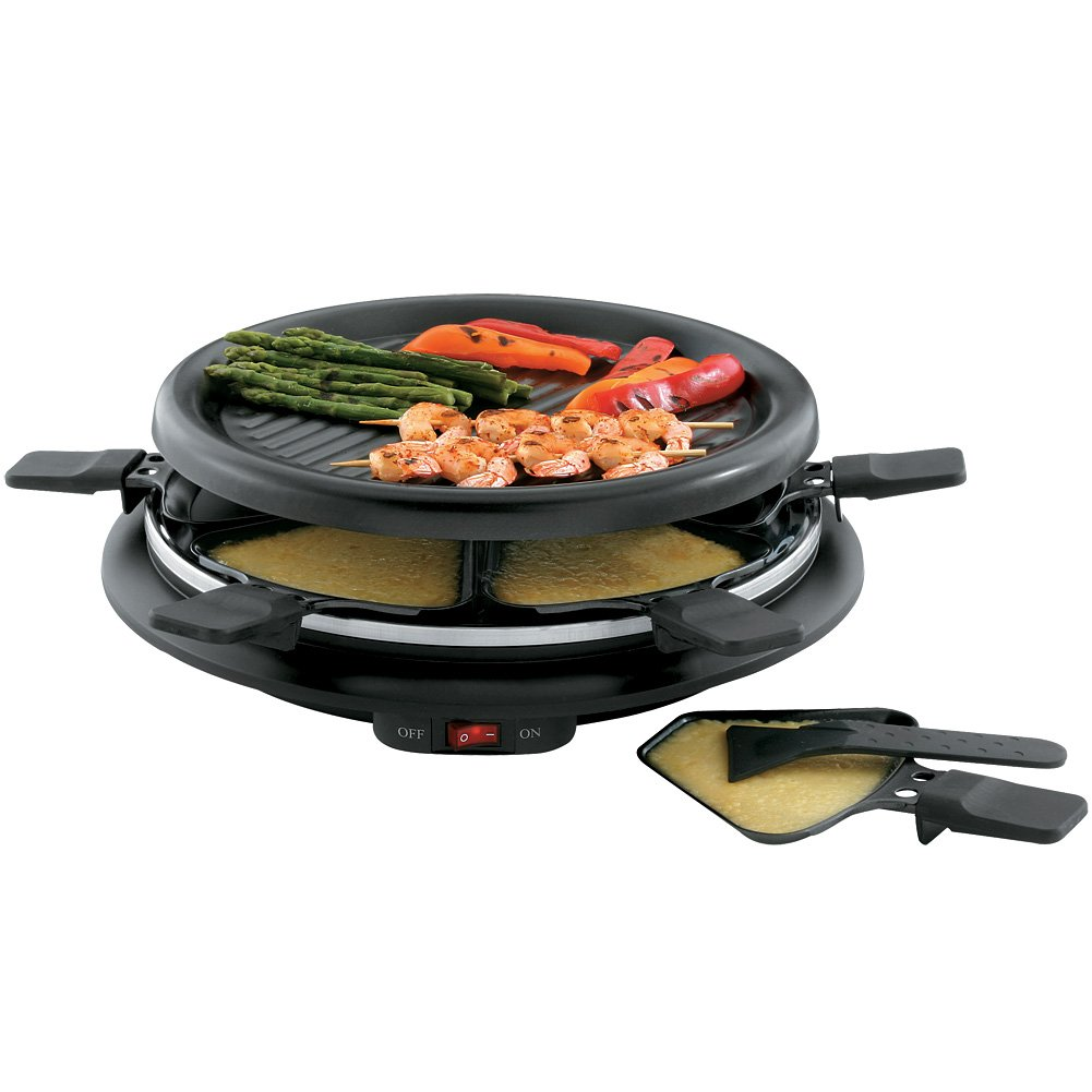 Toastess Non-Stick 6-Person 13 Mini Party Grill And Raclette With Spatulas by TOASTESS INTL/ SALTON   B01C67Y6JK