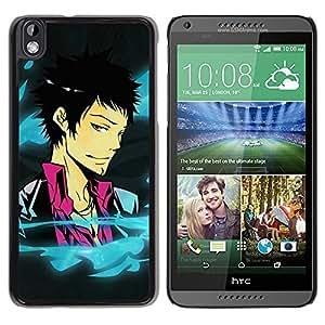 Be Good Phone Accessory // Dura Cáscara cubierta Protectora Caso Carcasa Funda de Protección para HTC DESIRE 816 // Funny Cool Anime Guy