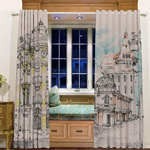 (Room Darkening Thermal Blackout Grommet Window Curtain for Living Room,58