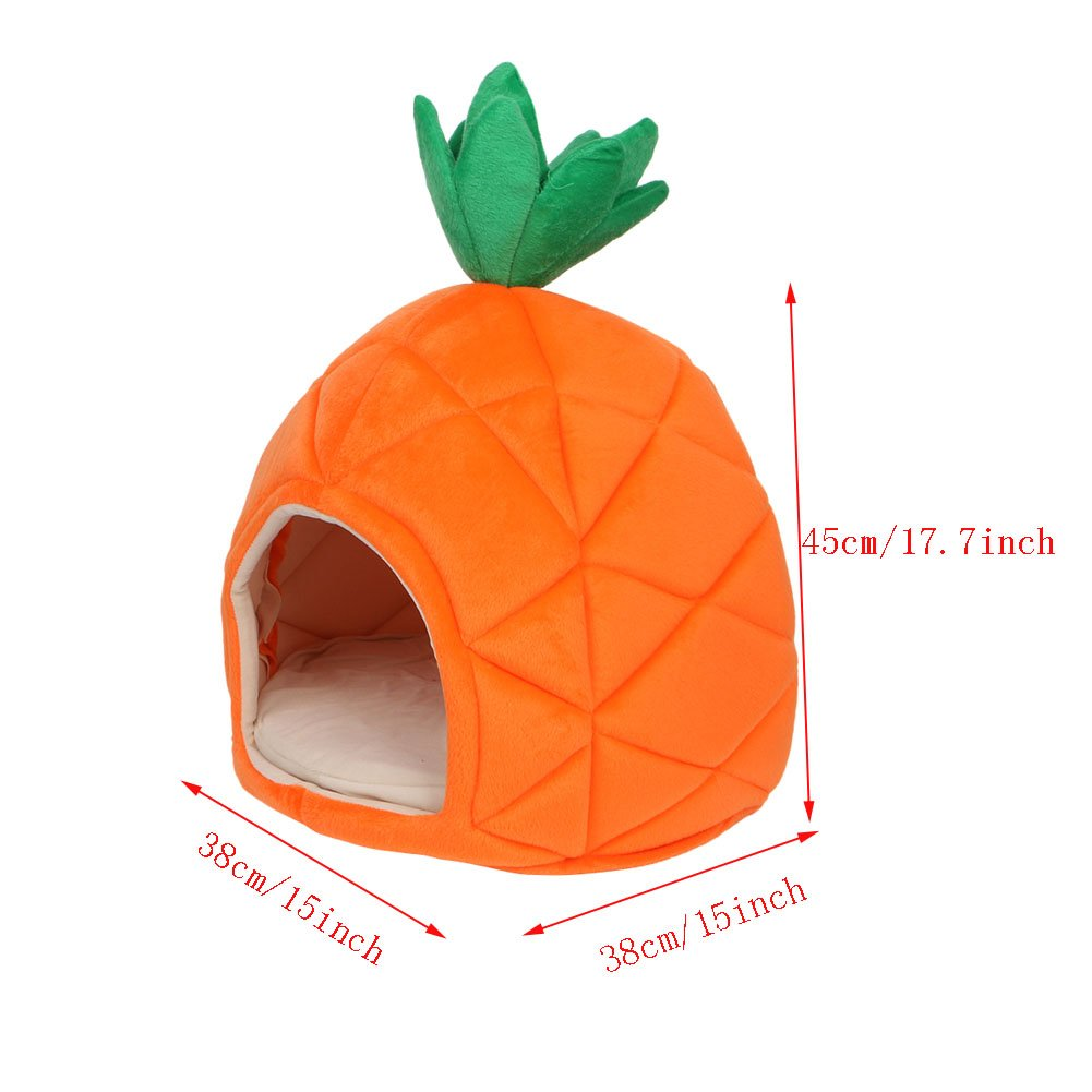 Kocome Luxury Deluxe Pineapple Pet House Dog Cat Puppy Warm Cave Nest Cozy Sleeping Bed
