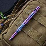 TACRAY Tactical Pen for Self Defense with Ti-6AL-4V Titanium Alloy and Colorful Surface Oxidation Treated Body