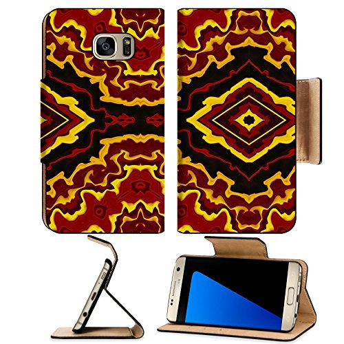 Widescreen Format Matte (MSD Premium Samsung Galaxy S7 Edge Flip Pu Leather Wallet Case IMAGE ID 32706937 Colorful abstract tribal style background in wide screen format)