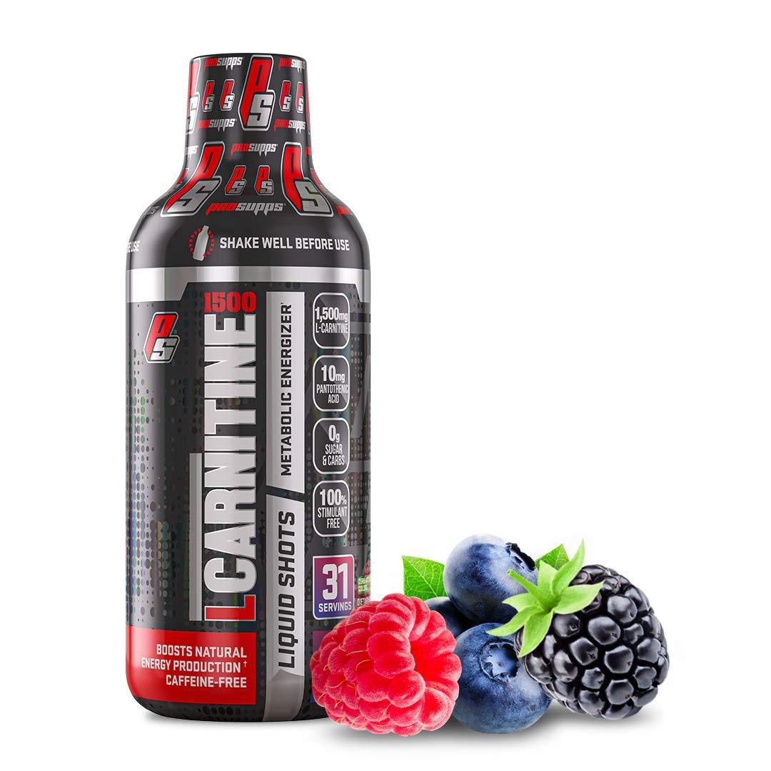 ProSupps L-Carnitine 1500 Liquid Fat Burner, Stimulant Free Metabolic Enhancer (Berry, 16 Fl. Oz)
