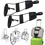 Creazy 2pcs Add A Bag Strap Luggage Suitcase Adjustable Belt Carry On Bungee Travel