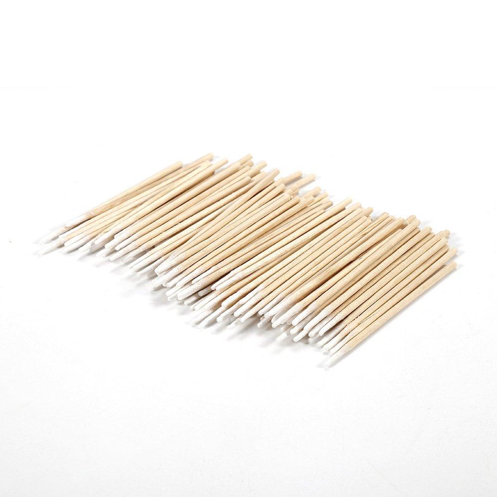 niedlich 100/Mini-Einzel-Spitze Wattest/äbchen f/ür Make-up Nagelkunst-Werkzeug aus Holz