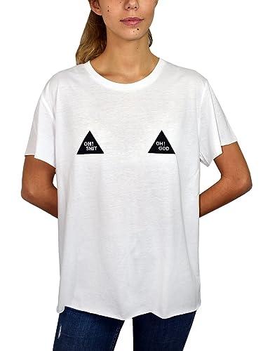 JOYDIVISION Joy Division 002-002, Camiseta para Mujer, Blanco, S