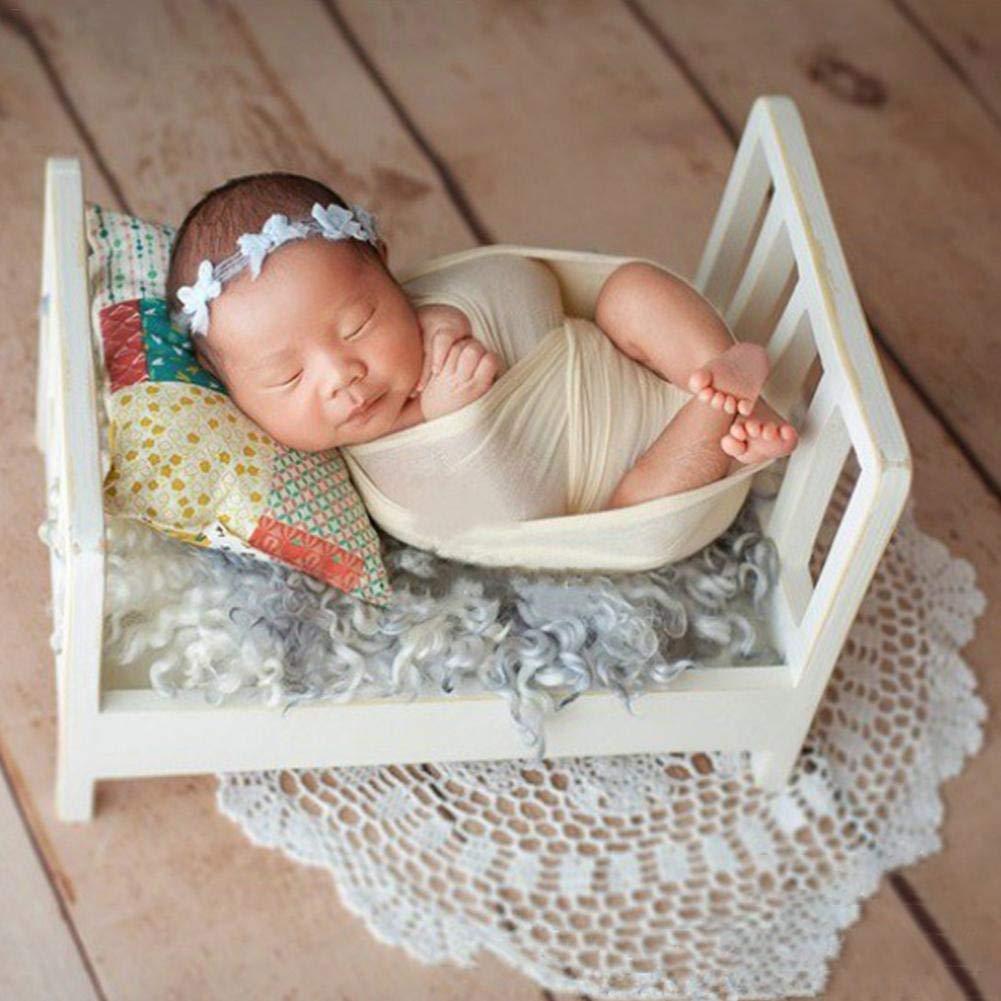 HUVE Neugeborene Fotografie Requisiten Kinderbett Posiert Baby Fotografie Requisiten Baby Foto Kleine Holzbett Fotostudio Krippe Requisiten F/ür Foto-Shooting Posiert Sofa