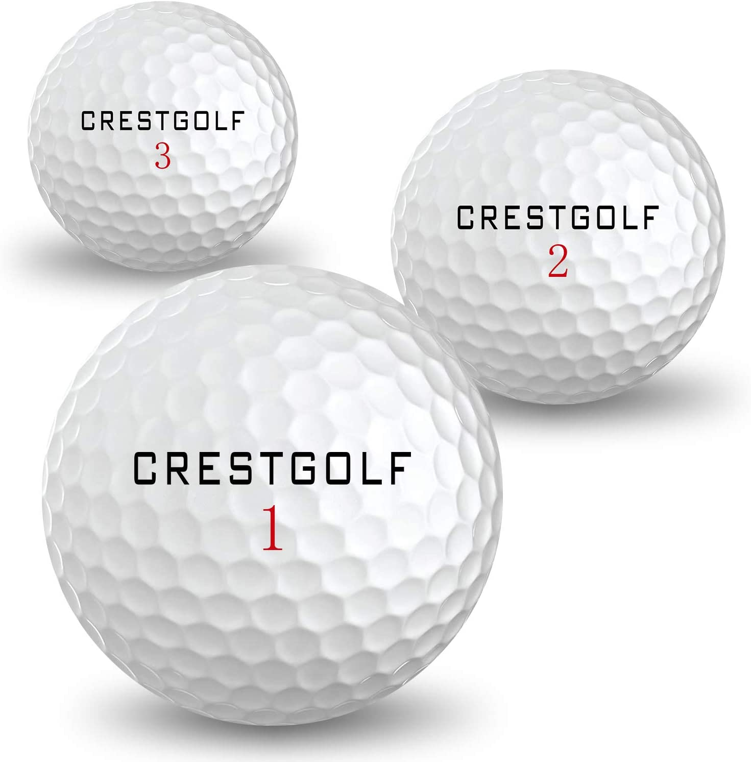 Crestgolf Soft-Feeling Golf Balls, Long Distance Golf Ball with Durable Urethane Cover for Swinging Speed High or Slower, Regulation Size Spin Golf Ball for Golf Shot Game