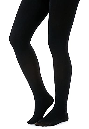 6451a3c16e9c6 Warm and Cosy 200 Denier Thermal Fleece Tights, Black, Medium at ...