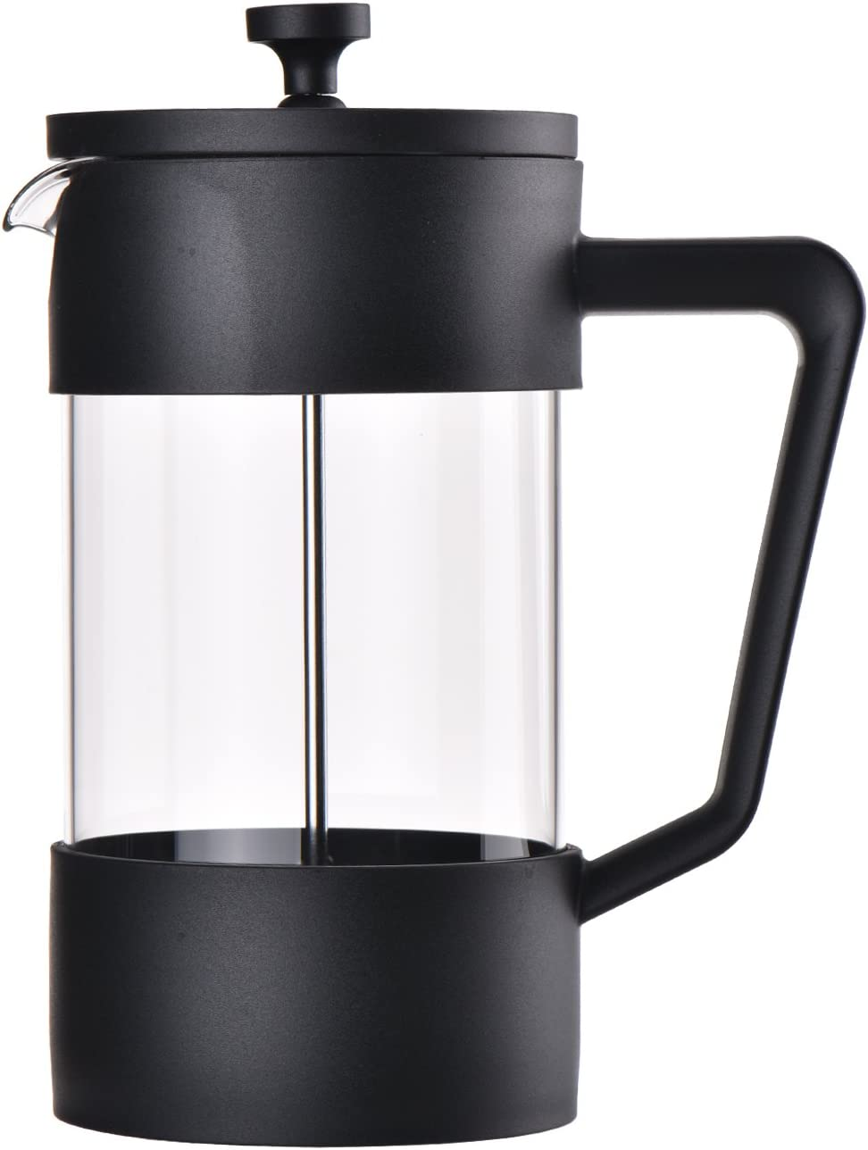 French Press Coffee Tea Makers 8 Cup 1 liter, 34oz 304 Grade Stainless Steel, Heat Resistant Borosilicate Glass Modern