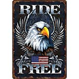 Rivers Edge Products Ride Free Tin Sign, 16-Inch