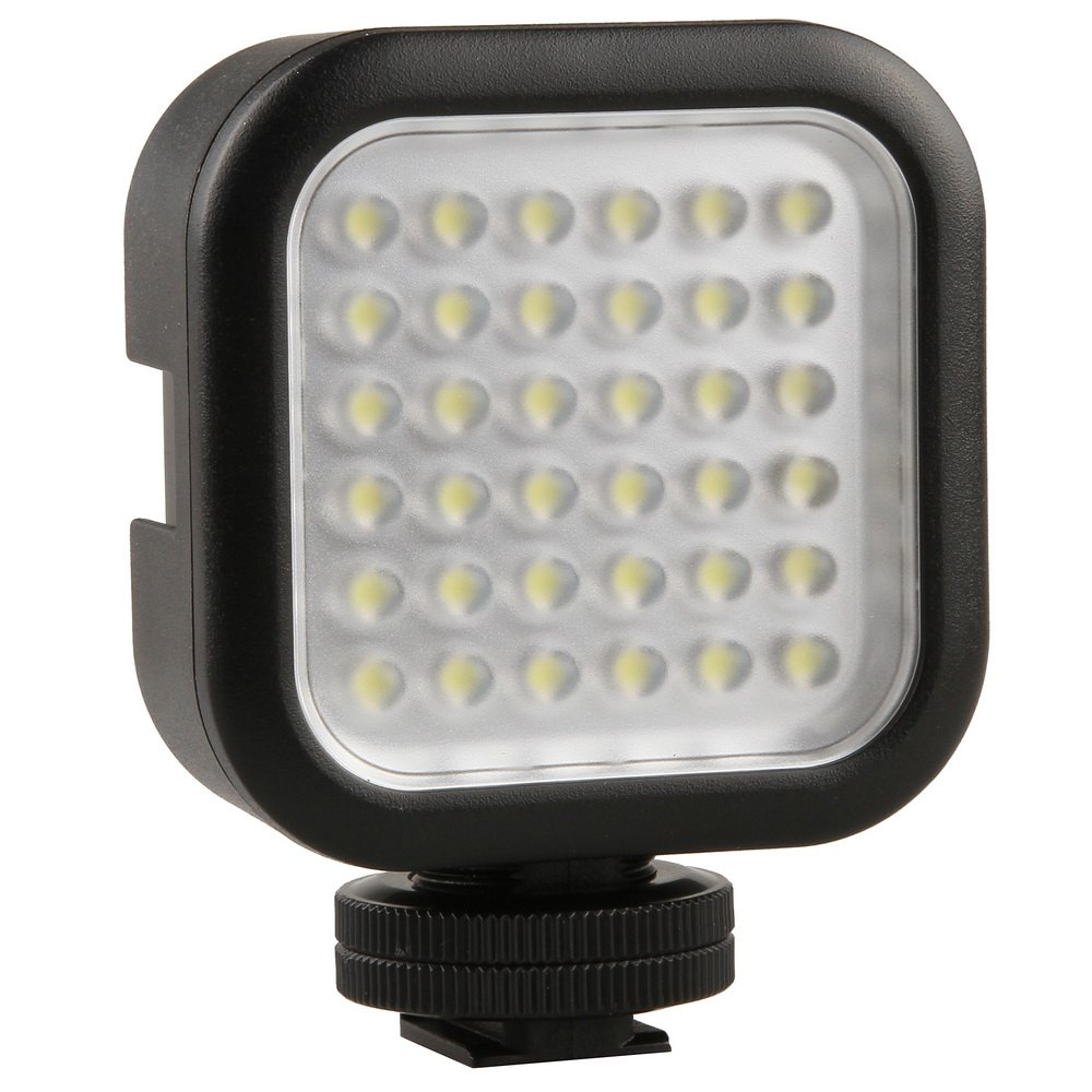 Godox Hot Shoe 36pcs Dimmable Ultra High Power LED Video Light Lamp for Canon, Nikon, Pentax, Panasonic, SONY, Samsung and Olympus Digital SLR Cameras W 1/4'' Hole