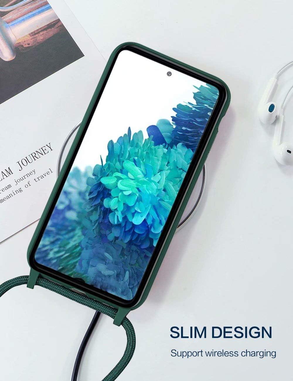 Verde Colgante Ajustable Collar Correa de Cuello Cadena Cord/ón BESTCASESKIN Funda Cuerda Compatible con iPhone 7 Plus 8 Plus Silicona TPU Carcasa