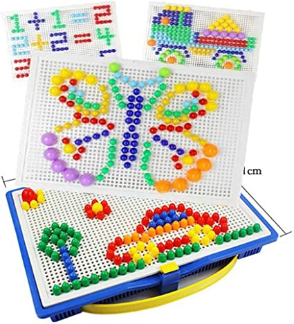 Creative Kids gift Mosaic Picture  Mushroom Nail Kit  Puzzle Toy Peg Board