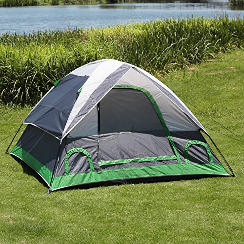 ShinyFunny Waterproof 2-3 person Backpacking Camping Tent 3-Season Lightweight Traveling Tent with Carry Bag