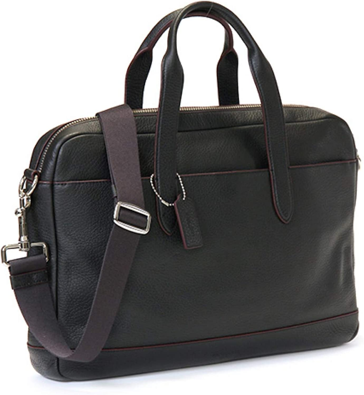 COACH Men's Pebble Leather Hamilton Briefcase Crossbody