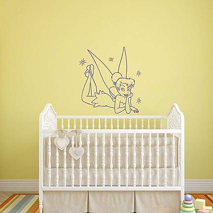 Amazon.com: Tinkerbell Wall Decal Princess Fairy Girl Vinyl ...