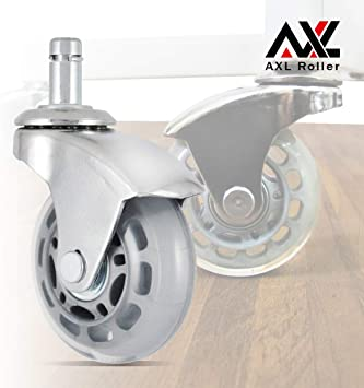 "4 Pieces 3/"" Rollerblade Style Caster Wheels Heavy Duty Non-Marring Clear Rubber"