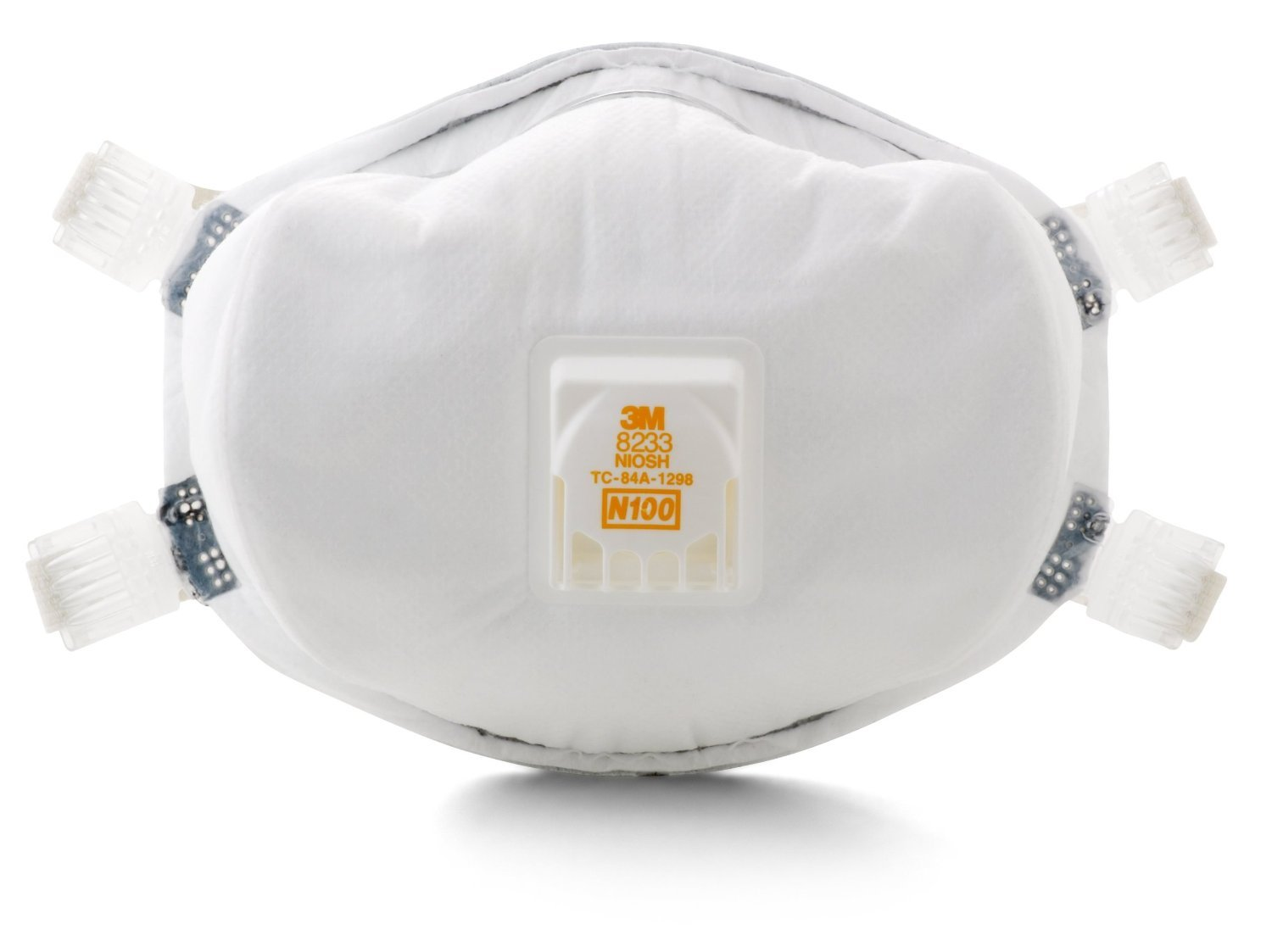 ERB Safety 13578 3M 8233 Flow Valve N100 Particulate Respirator, White Paper, One Size