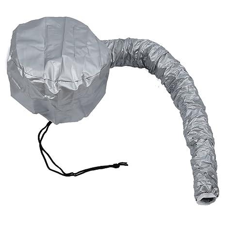 SODIAL(R) Gorra Termica Peluqueria para secador Cuidado de cabellos Plata