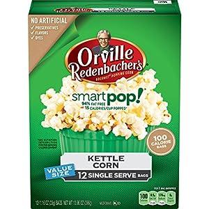 Orville Redenbacher's SmartPop! Kettle Corn Popcorn, Single Serve Bag, 12-Count