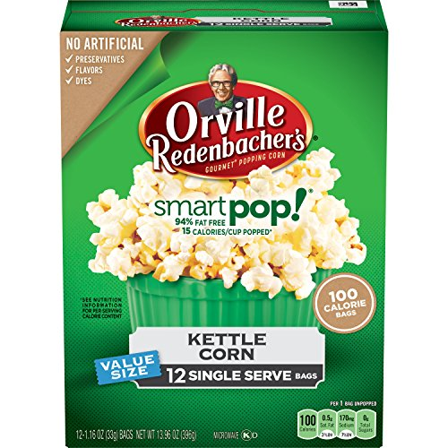 Orville Redenbacher's SmartPop! Kettle Korn Popcorn, Single Serve Bag, - Smart Orville Pop