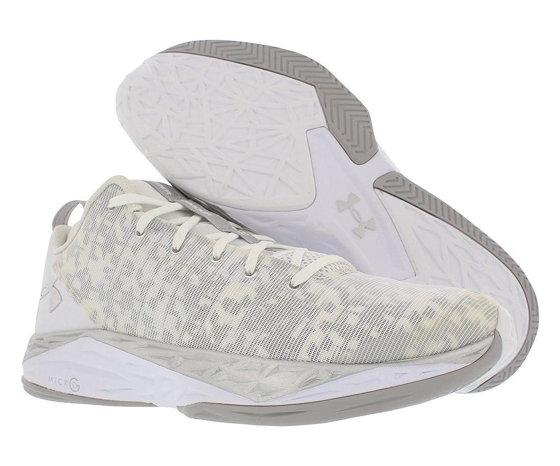 7587b944e670 Under Armour Mens UA Fireshot Low Basketball Shoes 11 White  Amazon.co.uk   Shoes   Bags
