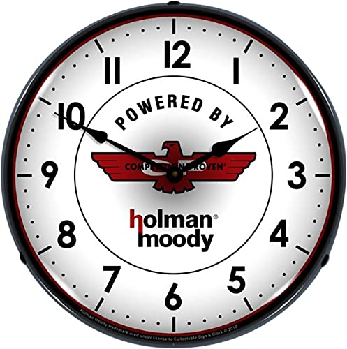 Collectable Sign and Clock HM1002240 14 Holman Moody Lighted Clock
