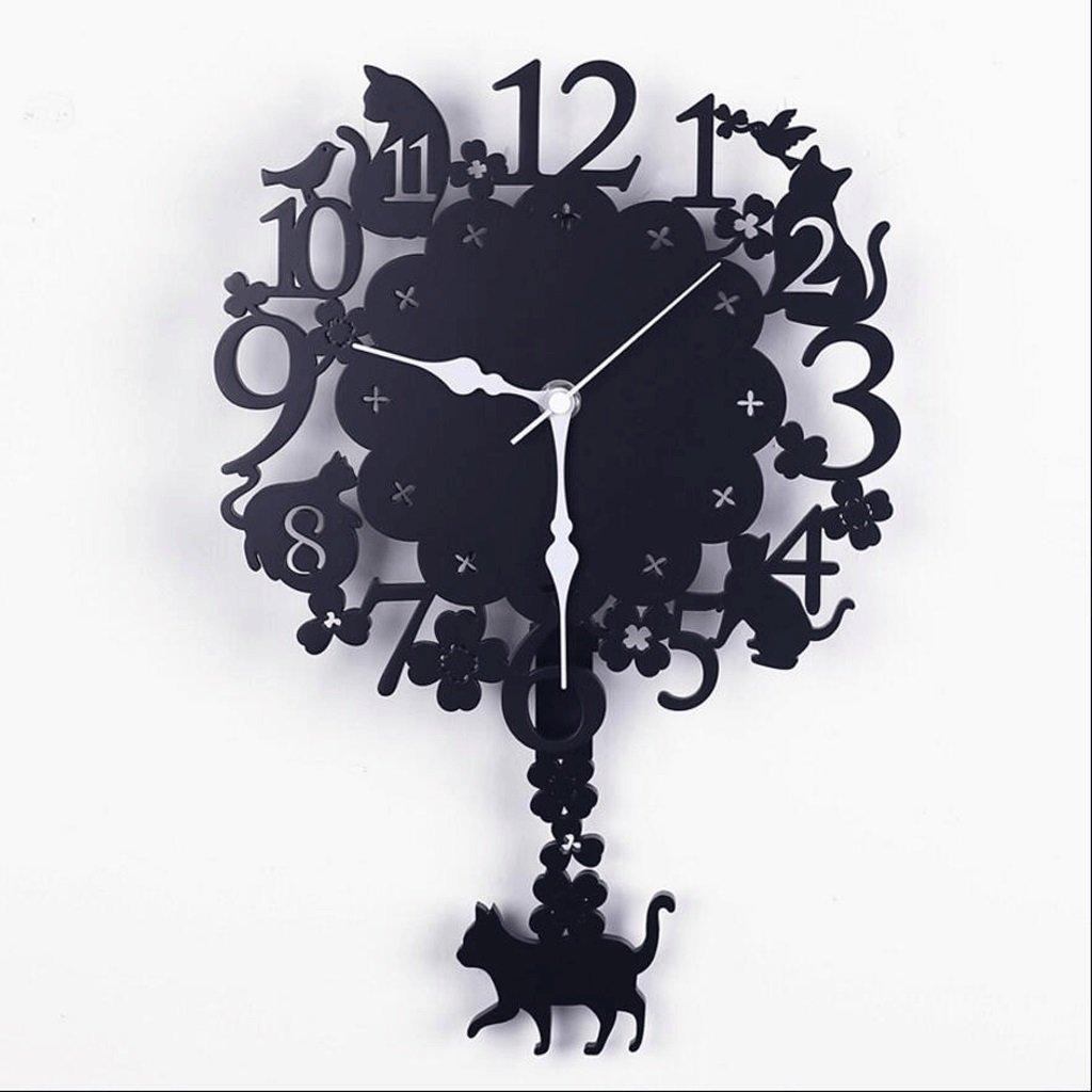 LINGZHIGAN 木製の壁時計リビングルームミュートクリエイティブクロックベッドルームパーソナリティクォーツ時計 ( サイズ さいず : 33*22cm(A) ) B07C7GD89333*22cm(A)