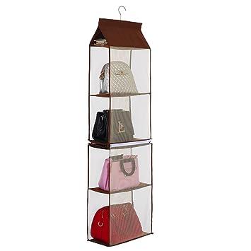Organizador de bolso de mano para armario, compartimento desmontable, 4 bolsillos, grande,