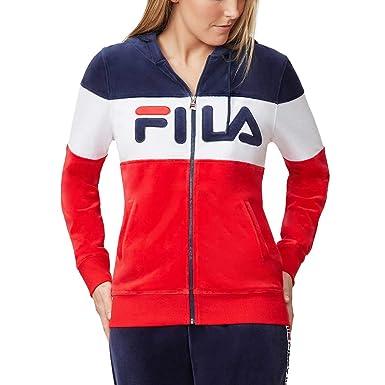 aa1df3337799 Amazon.com  Fila Women Sandy Velour Jacket Size Large  Clothing