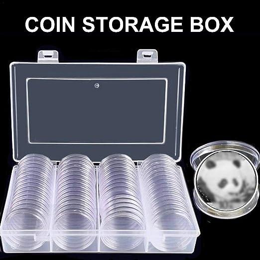 Caja de plástico para Guardar Monedas de Bettying, 60 Unidades, 40 ...