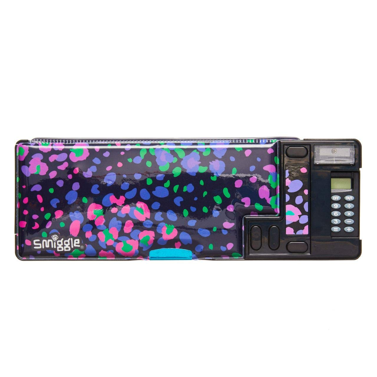 Smiggle Express Kids Pop Out School Pencil Case for Girls /& Boys with Calculator and Sharpener Dinosaur Print