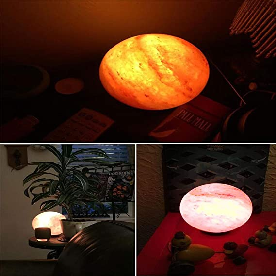 Mano redonda tallada a la luz del escritorio USB Crystal Rock Lámpara de sal Base de madera Color colorido Purificador de aire Luces nocturnas: Amazon.es: Bricolaje y herramientas