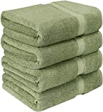 Utopia Towels Luxurious Bath Towels, 4 Pack, Sage Green