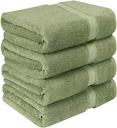 - Utopia Towels Luxurious Bath Towels, 4 Pack, Sage Green