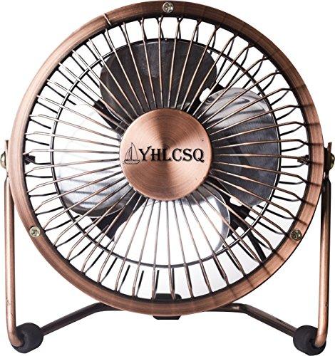 Mini Usb 4 Inch Fan Desktop Silent Fan Perfect For Laptop Notebook Pc Desk Table Fan  4 Inches  Copper
