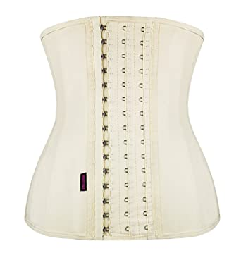 e5f845f7fa FIRM ABS Women s Latex Waist Training Corset Steel Boned Underbust Back  Brace Cincher