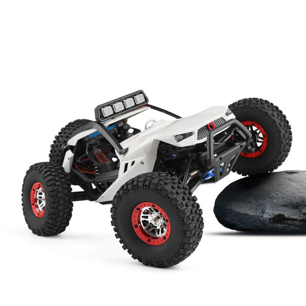 Choosebuy❤️ Wl 540 Brush Motor High Speed 40km/h 1:12 4D 2.4GHz Radio Off-Road Remote Control Car Racing with LED Children Adults Christmas Birthday Gift (White) by Choosebuy (Image #3)